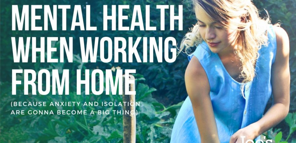 mental health when working from home