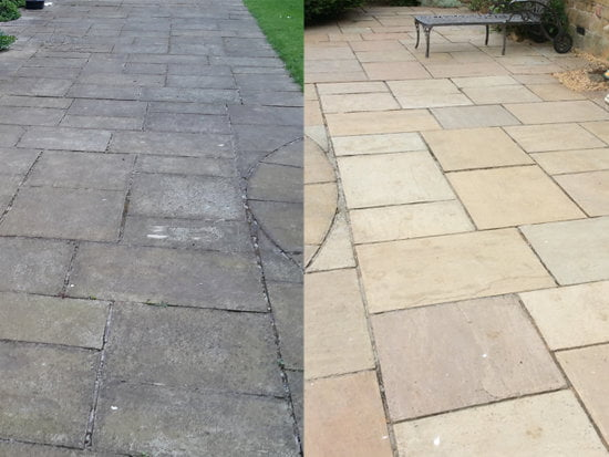 before and after surface clean - Joe's