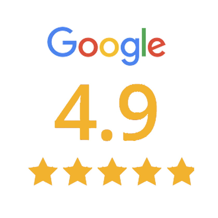 4.9 Rating on Google